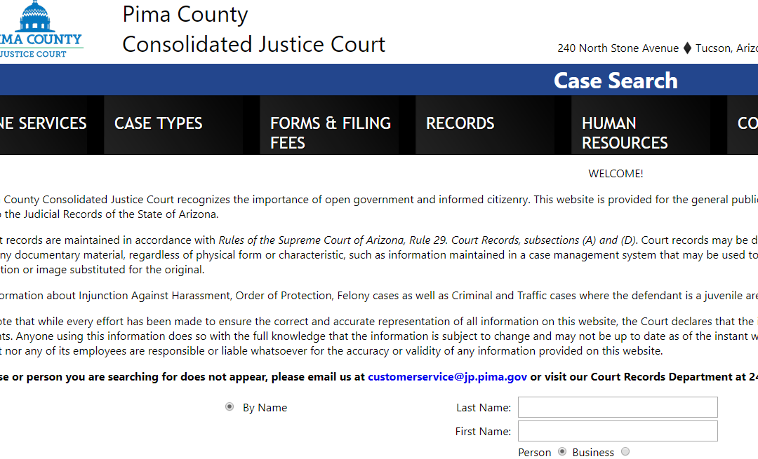 Pima County Arizona Criminal Records