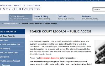Riverside County California Criminal Records