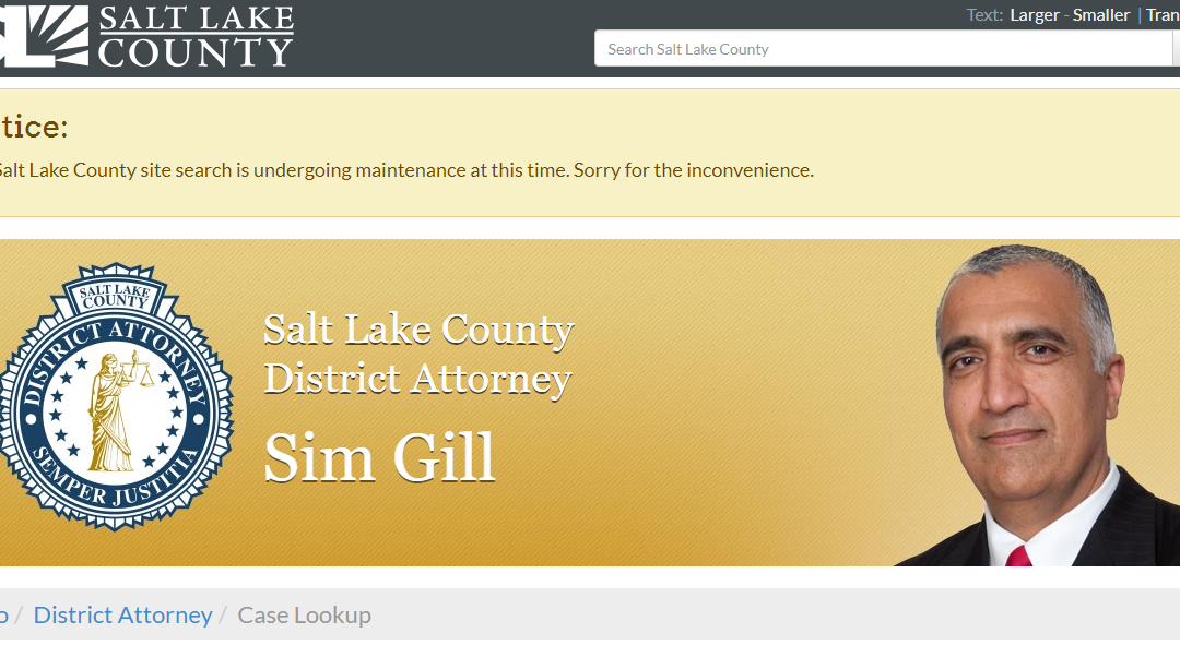 Salt Lake County Utah Criminal Records
