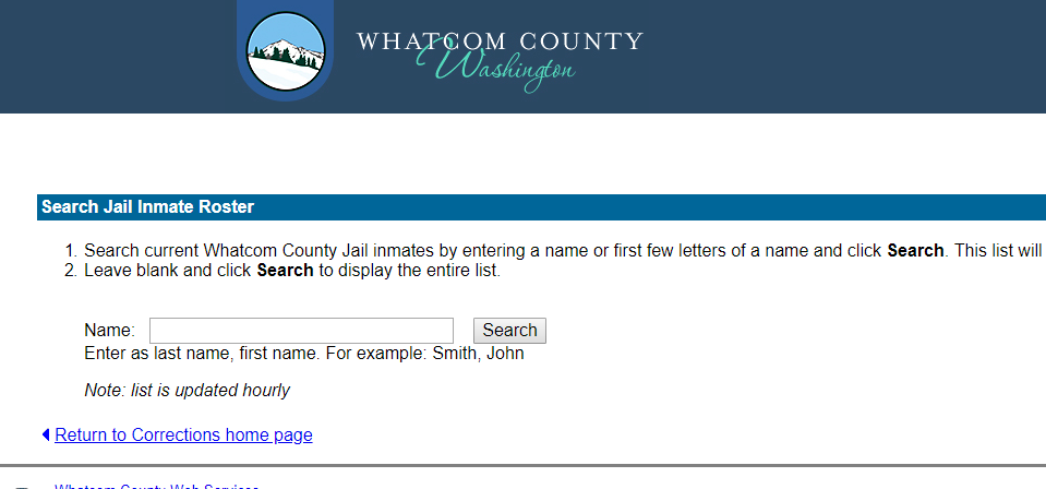 Whatcom County Jail Roster Bookings by Date Mugshots Inmate